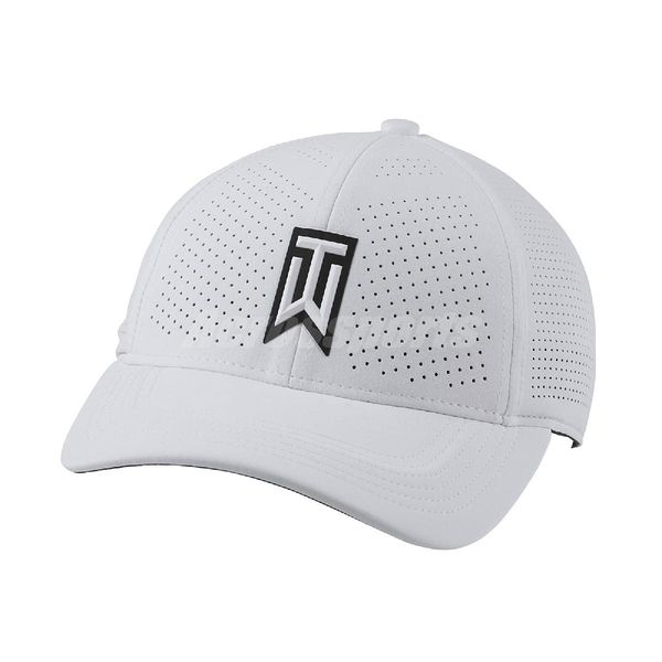 Nike 帽子 AeroBill Tiger Woods Heritage86 Perforated Golf Hat 白 黑 男女款 運動休閒 【ACS】 CW6792-100