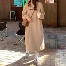 連帽洋裝 秋冬年新款連身裙子女法式雙層帽加絨加厚保暖字母印花衛衣裙 維多原創