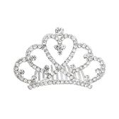 皇冠頭飾 兒童頭飾皇冠發夾發箍公主水鉆頭箍韓國女童發卡寶寶王冠發梳插梳 嬡孕哺