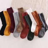 襪子女中筒襪可愛堆堆襪淺口韓國學院風棉短襪韓版襪子秋冬長襪【無趣工社】