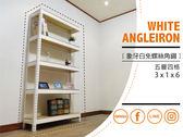 【空間特工】白色五層收納櫃架 90x30x180公分 整理架 層架 展示架 免螺絲角鋼置物櫃 收納櫃 W3010650