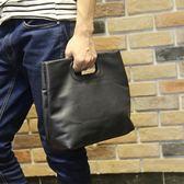 時尚男士手提包公文包潮流文件包男小包休閒斜背包 可可鞋櫃