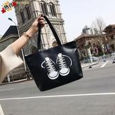 大包包 大包包包女新品托特包學生簡約大容量手提包正韓PU單肩大包 【快速出貨】