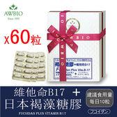 日本褐藻糖膠+B17膠囊60粒(禮盒)(素食可)【美陸生技AWBIO】
