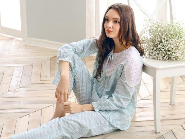 夏季新品純棉睡衣女甜美家居服全棉休閒夏天薄款套裝 -swe0015