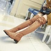 長靴-時尚性感顯瘦繫帶流行真皮女過膝靴2色71ab2【巴黎精品】