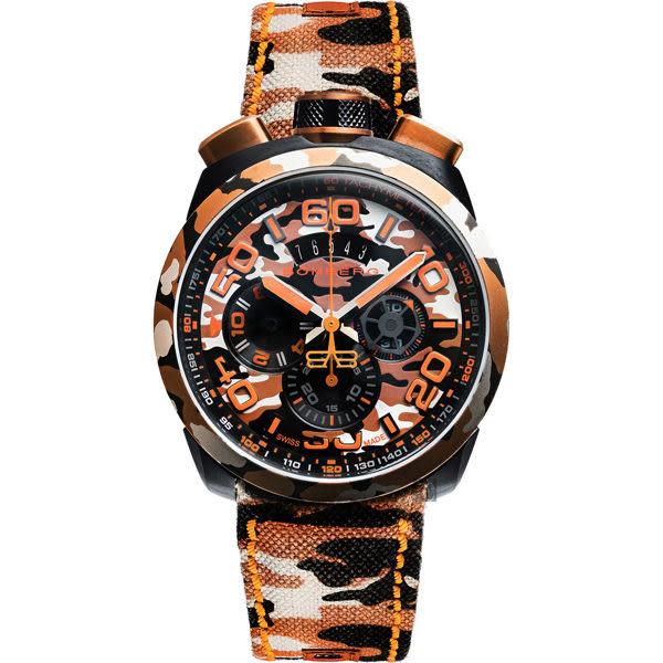 BOMBERG 炸彈錶 BOLT-68 沙哈拉迷彩計時手錶-45mm BS45CHPCA.047.3