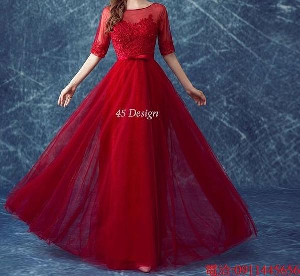 (45 Design)  7天到貨 禮服婚紗晚禮服短款晚宴年會 結婚小禮服短裙 大小顏色款式都能訂製19