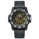 年節限時下殺價-LUMINOX 雷明時 CARBON SEAL 3800碳纖維超級海豹系列腕錶-橄欖綠x黑時標/46mm A3813