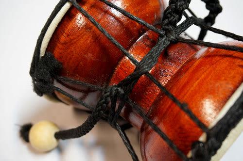 【敦煌樂器】LOOP 木製雙面手搖小羊皮鼓搖鈴