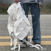 日韓ins超大容量戶外多功能後背包男女學生bf工裝風運動背包 雙十一全館免運