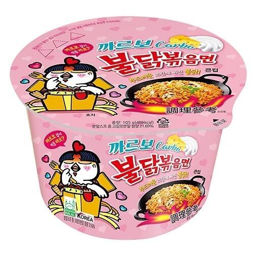 韓國 火辣雞肉風味鐵板炒麵碗麵(奶油白醬風味)105g『STYLISH MONITOR』團購/泡麵 D211469