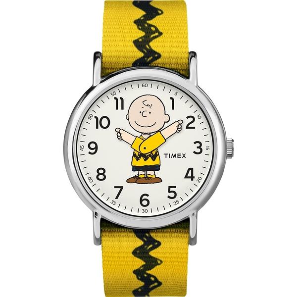 【TIMEX】天美時 x SNOOPY 限量聯名系列查理布朗手錶 (黃 TXTW2R41100)