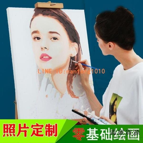 diy數字油畫定制照片手工制作禮物品手繪油彩畫填色填充裝飾【毒家貨源】