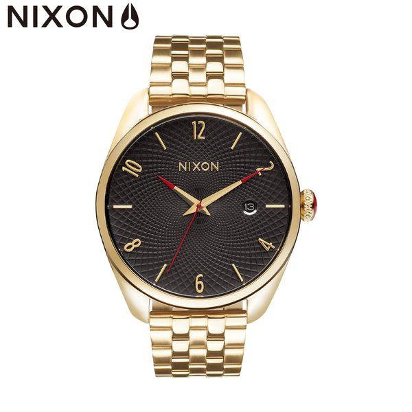 NIXON手錶 原廠總代理 A418-510 THE Bullet金黑色 潮流時尚鋼錶帶 男女適用 運動潛水 生日 情人節禮物