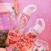 水杯  日系新款可愛簡約水杯學生少女小清新透明粉嫩玻璃杯便攜隨手杯子