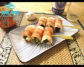 【鮮匠海鮮】【培根蔥捲串】1盒4支(原味),中秋烤肉必備