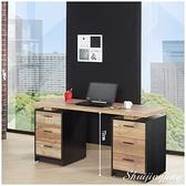 【水晶晶家具/傢俱首選】JF0817-2尼克森5尺厚切木紋環保木心板電腦書桌