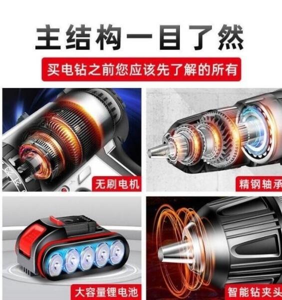 現貨【送配件 收納箱】36V鋰電鑽 充電電鑽 電動起子機 雙速衝擊鑽
