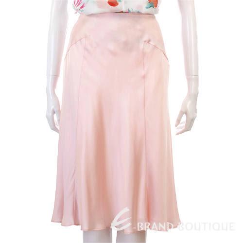 [ NG大放送 ]BVM 粉色緞面及膝裙 0520897-05