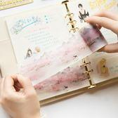 古風水彩和紙膠帶 DIY人物插畫手帳膠帶 日記相冊裝飾膠帶【任兩件499】