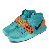 Nike 籃球鞋 Kyrie 6 GS Oracle Aqua 藍 橘 女鞋 大童鞋 Irving Animal 豹紋 運動鞋 【PUMP306】 BQ5599-300