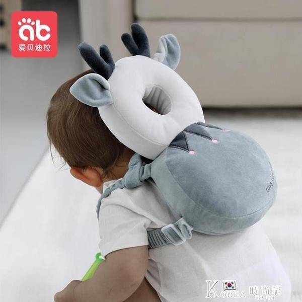 寶寶防摔神器小孩帽嬰兒夏季護頭枕頭部學走路兒童學步防撞保護墊 Korea時尚記