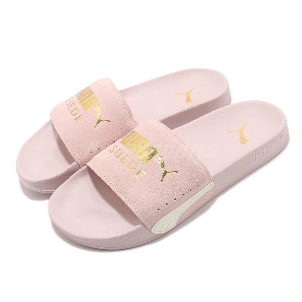 Puma 拖鞋 Leadcat FTR Suede Classic 粉紅 金 女鞋 麂皮鞋面 涼拖鞋 【ACS】 37227709