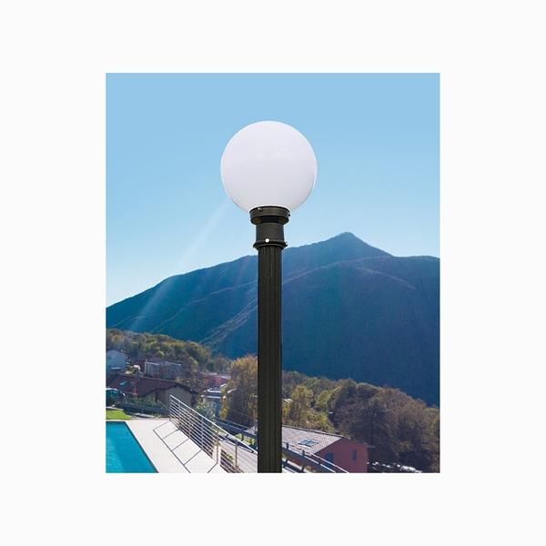 25cm戶外庭園燈 10吋黃球白球 76mm插管 PE塑膠 戶外燈 立燈 可搭配LED 庭園造景 景觀設計 現貨
