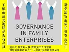 二手書博民逛書店Governance罕見In Family Enterprises: Maximising Economic An