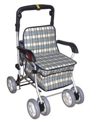 富士康FZK238四輪車-鋁製散步車(有扶手)