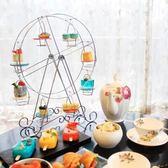 摩天輪杯子蛋糕架8杯金屬銀色婚慶甜品台歐式紙杯蛋糕展示架 享購