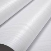 加厚自黏牆紙家具翻新貼紙裝飾波音軟片防水廚房櫥櫃衣櫃白木紋貼 NMS名購居家