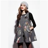 毛衣背心-無袖獨特刺繡圖案羊毛衫2色73g28【巴黎精品】