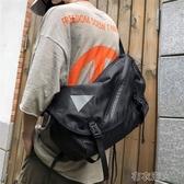 潮牌大容量斜挎包男女街頭嘻哈原宿機能包單肩包工裝包書包男 布衣潮人