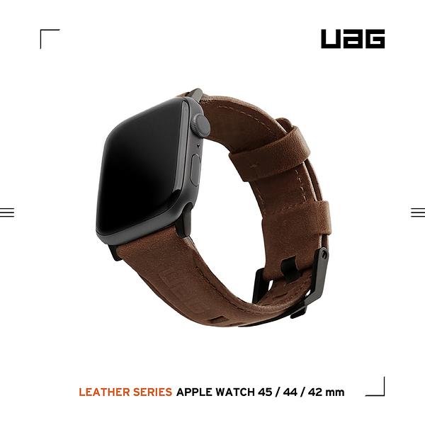 UAG Apple Watch 42/44/45mm 皮革錶帶-棕