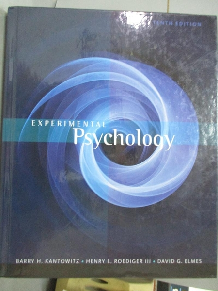 【書寶二手書T1/心理_IMP】Experimental Psychology_Kantowitz, Barry H./ Roediger, Henry L., III/ Elmes, David G.