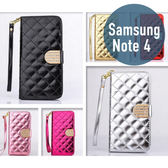 SAMSUNG 三星 Note 4 小香風皮套 插卡 側翻 手機套 手機殼 保護套 保護殼 配件