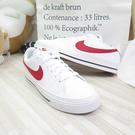 NIKE COURT LEGACY 男款 運動鞋 休閒鞋 CU4150105 白紅 大尺碼【iSport 愛運動】