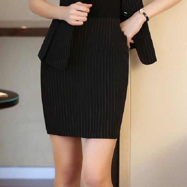 ZY-7233-PF清新氣質條紋包臀粉領款式職業窄裙~美之札