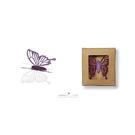 【收藏天地】創意小物*鋁合金質感冰箱貼-冷碎蝶系列 - 淺紫/ 藏書夾 生活文具 禮品 文青
