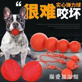 狗狗玩具耐咬磨牙小狗實心橡膠玩具球大型犬金毛訓狗寵物彈力球 QG5851『樂愛居家館』