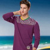 *86精品*紫色時尚圓領休閒系列服飾T恤款【86615-80】