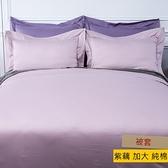 HOLA 托斯卡素色純棉被套 加大 紫藕