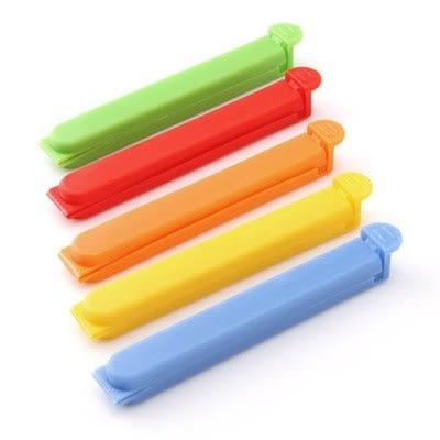 【滿300折30】WaBao 糖果色塑膠密封封口夾5入 =Z05142=