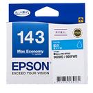 T143250 EPSON 原廠 (No.143) 高印量XL藍色墨水匣 適用 ME960FWD/ME900WD/ME940FW/ME82WD/WF-7011/7511/7521/WF-3521