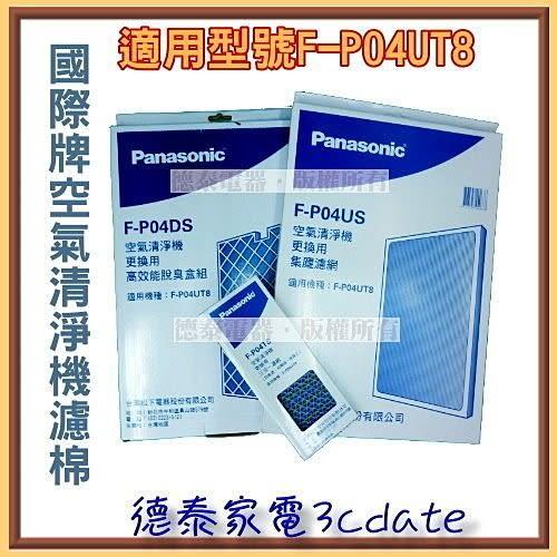 Panasonic國際空氣清淨機專用濾網【F-P04US+F-P04TS+F-P04DS】 適用:F-P04UT8【德泰電器】