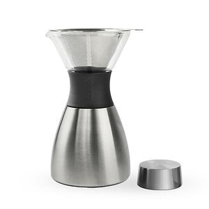Asobu Pour Over 經典手沖不鏽鋼保溫咖啡濾壺鏡面銀