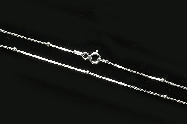 義大利進口925銀項鍊,18吋箱子圓珠單鍊 (box bead chain),DeeDee Jewellery 生日禮物、母親節禮物