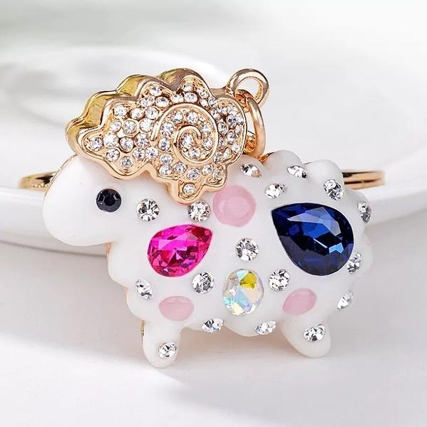 韓國羊咩造型鑲鑽鑰匙圈